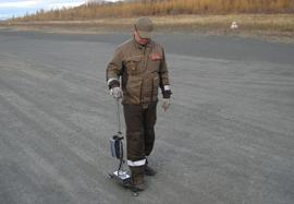 Measuring the unpaved runway surface roughness by Profiler DIPSTIK-2000